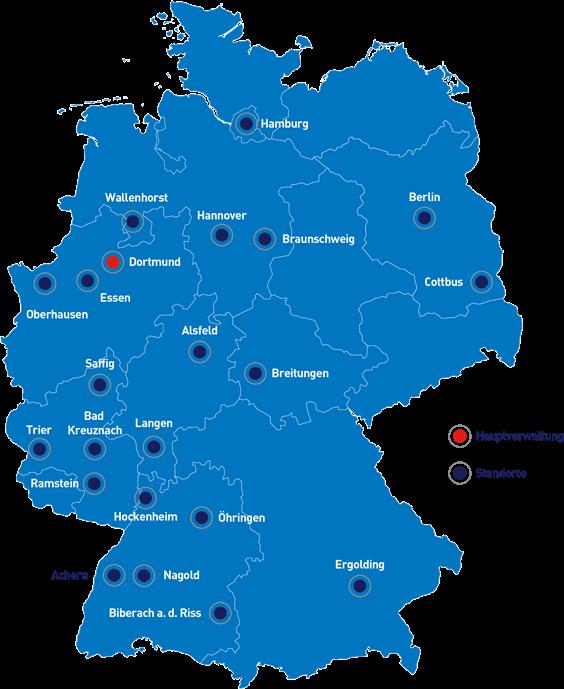 CeGIT Standorte blau