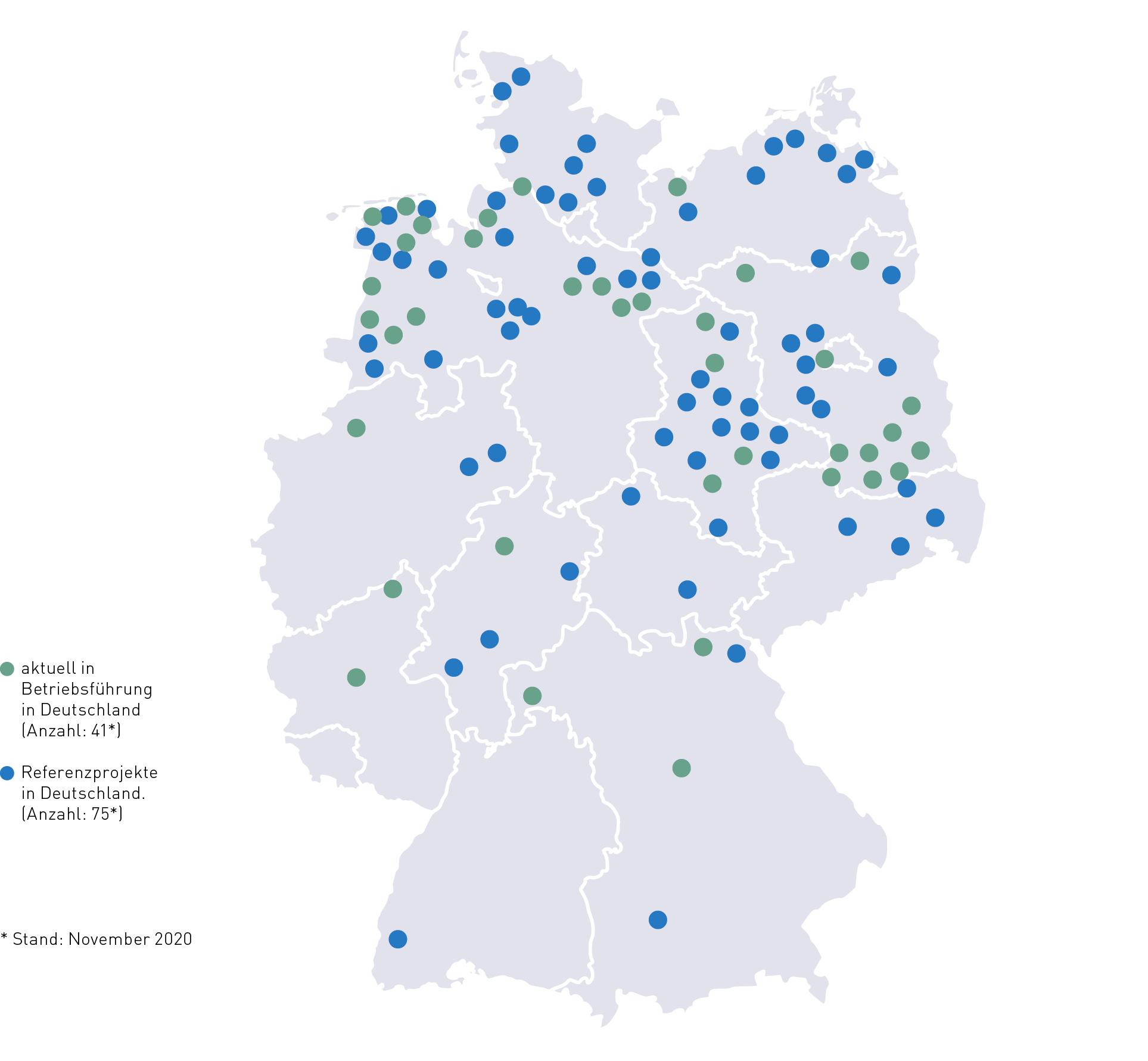 Übersichtskarte Deutschland - Bildnachweis SPIE